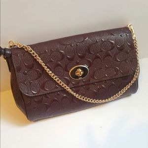 NWT COACH Burgundy Crossbody Bag